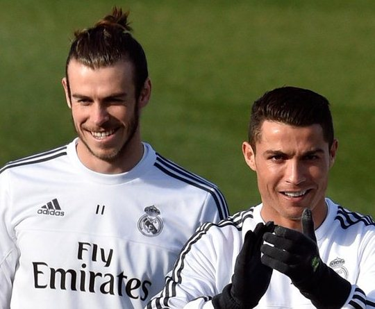 Ronaldo and Bale training